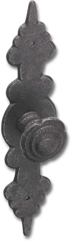 Breite 28 mm Eisen schwarz H/öhe 120 mm Knopf Baron mit Schild Knopf-/ø 27 mm