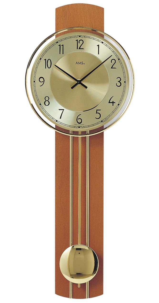 AMS W7115/9Orologio a pendolo al quarzo, in legno,, 73x 31x 18cm AMS Uhrenfabrik GmbH