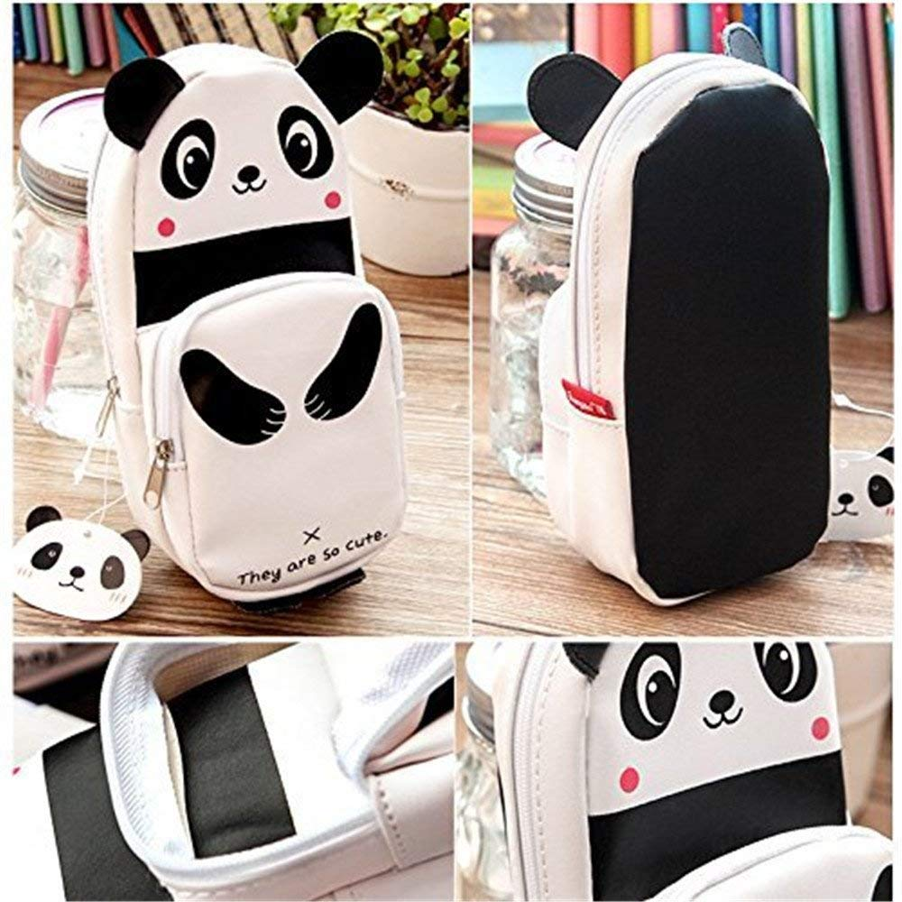 Uteruik Cute Cartoon Grande Capauteruik Animal Panda Astuccio in Pelle della Cerniera Borsa