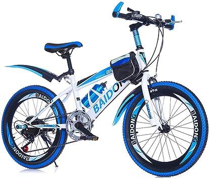 Mzl bicicleta de montaña para niños y niños de velocidad variable, bicicleta plegable de aleación para estudiantes, 20,22, 7 años +: Amazon.es: Deportes y aire libre