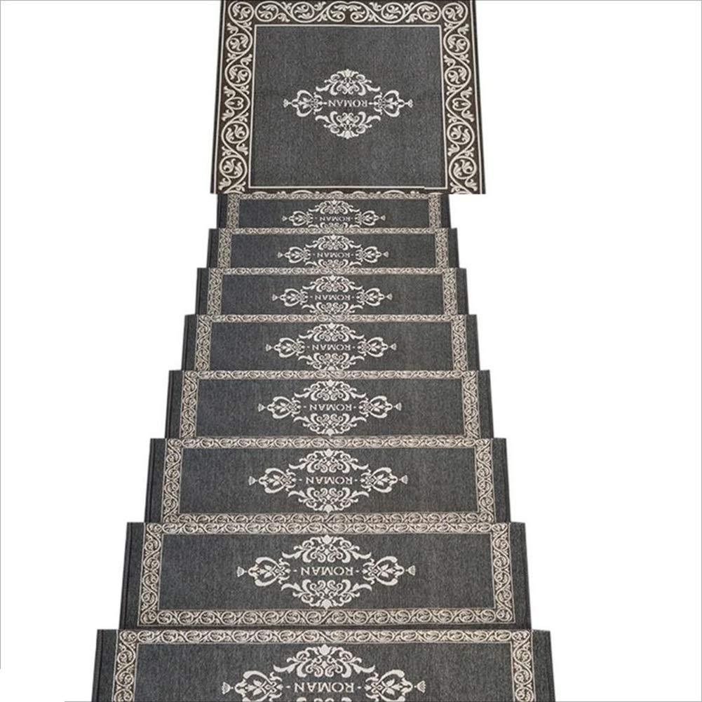HAIPENG 階段マット矩形 階段トレッド カーペット パッド マット 自己接着 ノンスリップ ソリッドウッド 階段オットマン ホーム、 カスタマイズされた、 3サイズ (色 : Gray-75x28x3cm-14 pcs)  Gray-75x28x3cm-14 pcs B07J38S7X4