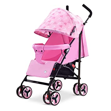 Ligero Silla de paseo Cochecito de niño recién nacido 4 ruedas Baby ...