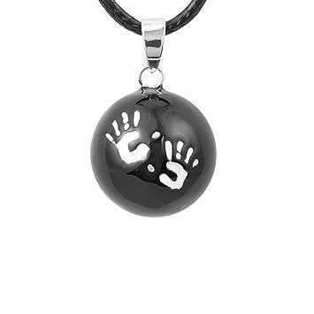 collier bola grossesse avec cordon noir