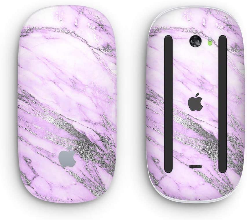 Design Skinz Premium Vinyl Decal for The Apple Magic Mouse 2 with Multi-Touch Surface Purple Marble /& Digital Silver Foil V10 2 Wireless, Rechargable