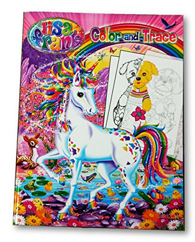 Lisa Frank Color and Trace Book with Stand-up Characters