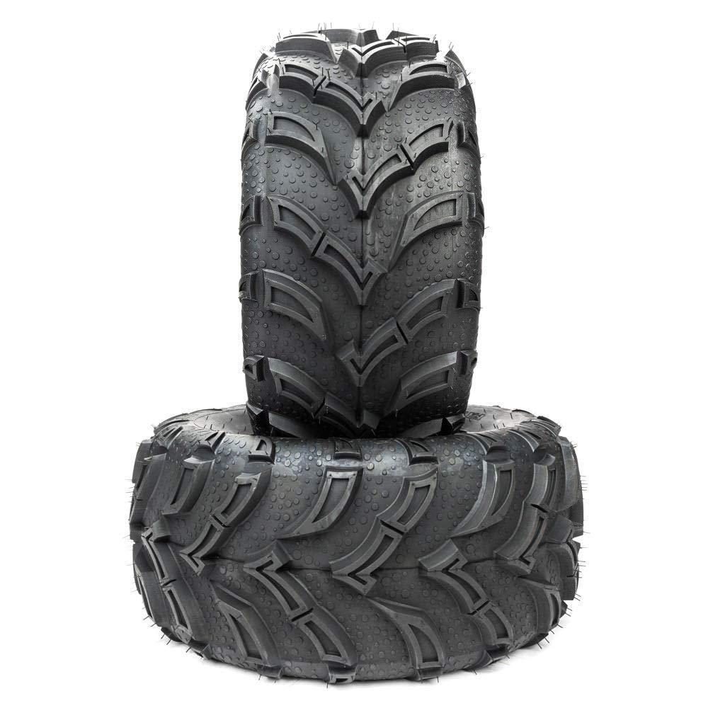 Roadstar 12 Inch ATV UTV Tires 25x10-12 6PR Rubber Tires Replacement Set of 2 by MOTOOS