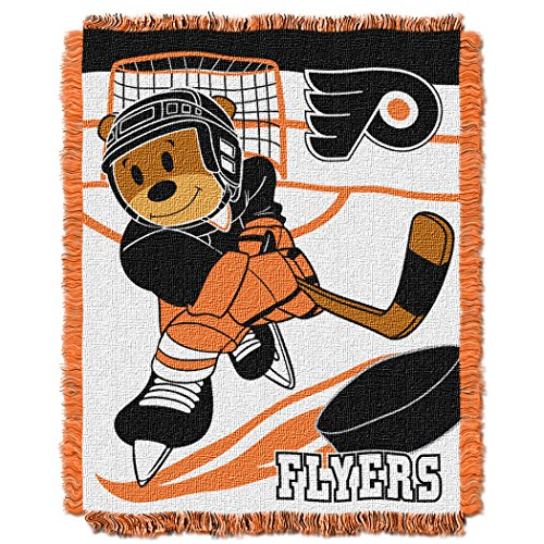 The Northwest Company Officially Licensed NHL Philadelphia Flyers Score Woven Jacquard Baby Throw Blanket, 36