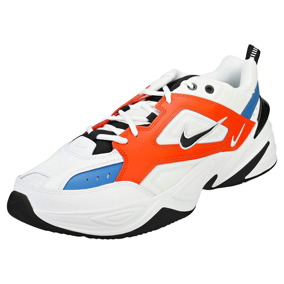 NIKE M2k Tekno, Chaussures de Homme Running Compétition Homme de 42 EU|Multicolore (Summit White/Black/Team Orange 100) e9a207