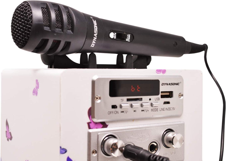Mod/èle 025-8 Modele 8 TWS, 2 Micros Radio FM Lecteur USB//SD 1 Microphon/è inclu Enceinte Bluetooth Portable karaok/é 10W DYNASONIC