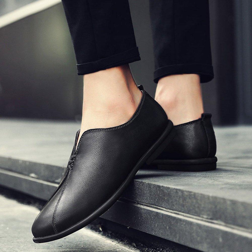 Herren Lässig Lederschuhe Mode Weicher Weicher Weicher Boden Schuhe Atmungsaktiv Erbsen Schuhe 98579e