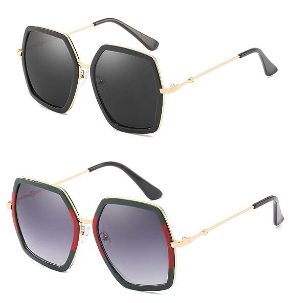 Amazon.com: YESPER - Gafas de sol cuadradas de gran tamaño ...