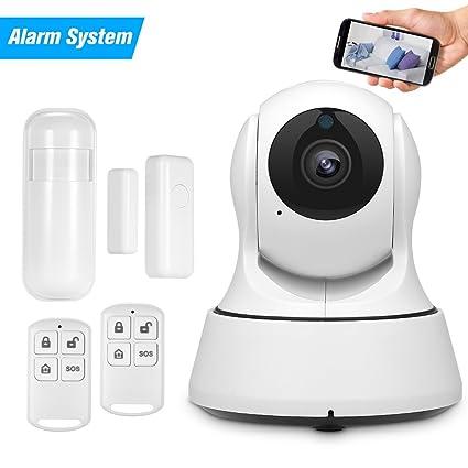 OWSOO Cámara IP 720P WiFi 433MHz Sistema de Alarma Monitor de Bebé PTZ Soporte Audio Bidireccional