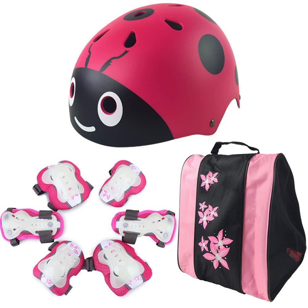 Box Czz Rollschuhlaufen Kinder Helm Schutzausrüstung, Fahrrad Sicherheit Hut, Voll Skateboard Roller Skates Knieschützer,B,Helm