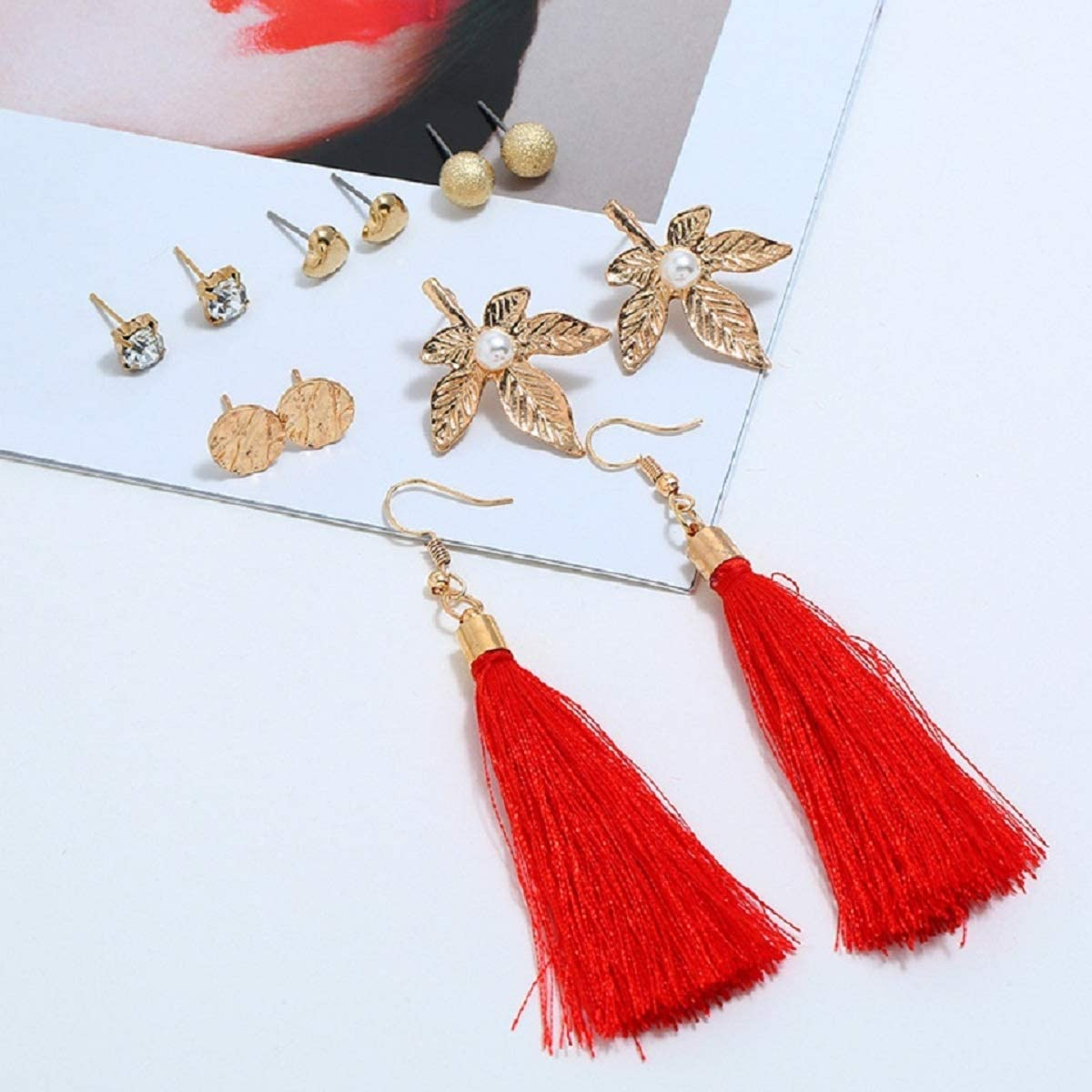 Fashion Simple Style Earring JXVLUYE Colors Earring for Women Girls Crystal Tassel Great Gifts for Women Girls