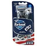Barbasol Premium Disposable Ultra 6 Plus Razor, 3 Count