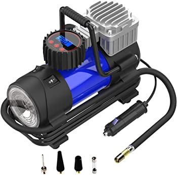 Lysnsh 12V 150 PSI Portable Air Compressor with Gauge