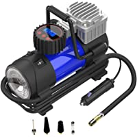 $27 » LYSNSH 12V DC Portable Air Compressor - 150 PSI Digital Tire Inflator Tire Pump with Pressure Gauge