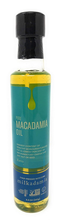 Milkadamia Pure Macadamia Oil, Keto Friendly, Vegan, Non GMO, 8.5 Ounce