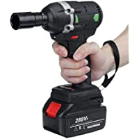 Cordless Impact Wrench,288VF (630N.m.) Electric Wrench Cordless Drill,Screwdriver Brushless Impact Wrench Large Power…