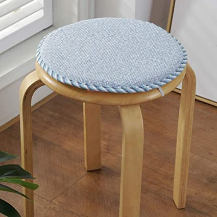 Home Chair Pads 13inch Sponge Round Chair Pad Breathable Soft Print Chair Cushion Non Slip Waterproof Seat Pad For Dining Stool A Diameter34cm