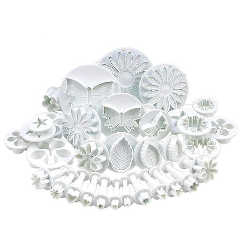 Lot de 10 sets (30 PCS) de PISTONS couteaux à gâteau Sugarcraft DÉCORATION pour la cuisine (coeur, papillon veiné, étoile, Daisy, veiné feuille de rose, Oeillet, fleurs, fleur, tournesol, autres)