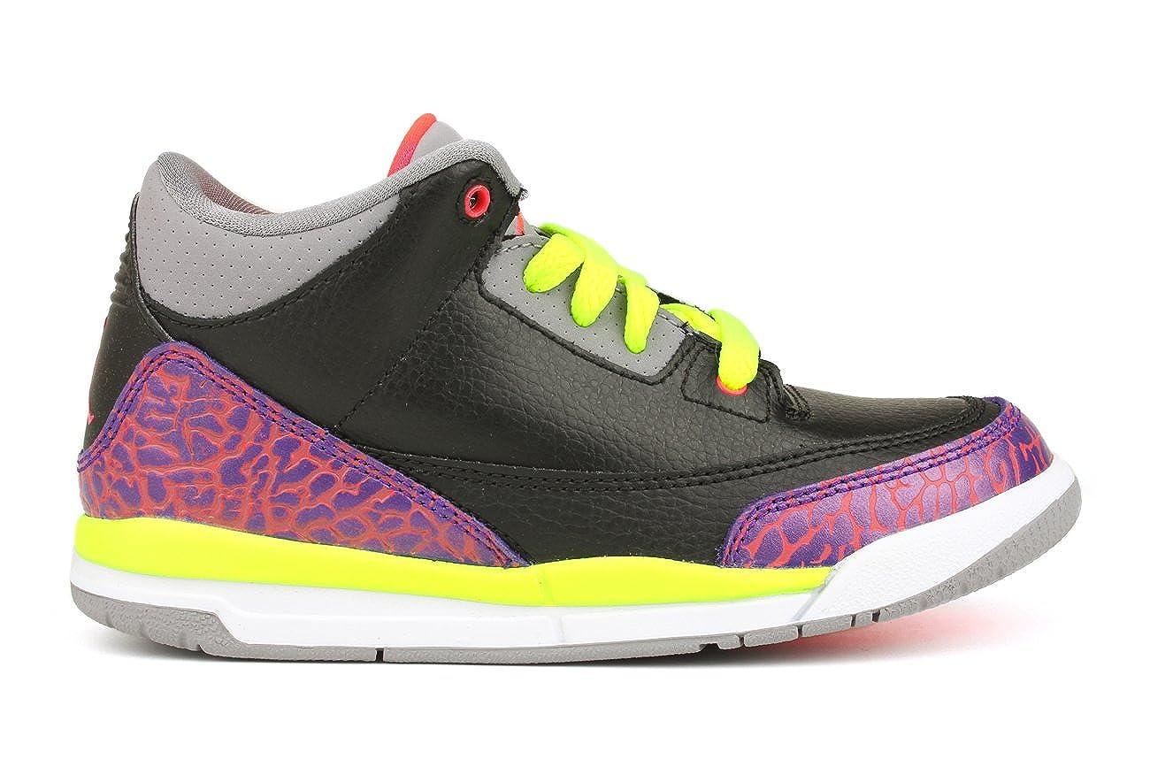 Amazon.com   441141-039  AIR Jordan PRE-School Girls AIR Jordan 3 Retro (PS)  PRE-School Shoes Black Atomic RED-CMNT Grey-VLT  Shoes 1543383b2