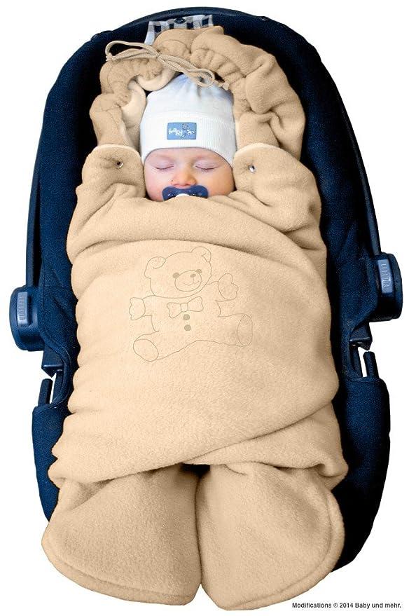 ByBoom® - Manta arrullo de invierno para bebé, es ideal para sillas de coche (p.ej. de las marcas Maxi-Cosi y Römer), para cochecitos de bebé, sillas ...