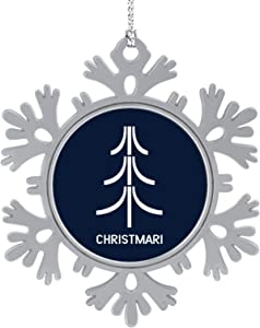 iToonify Christmar Atari Christmas Tree Christmas Hanging Snowflake Alloy Decorations,Christmas Souvenirs, Personalized Holiday Decorations.