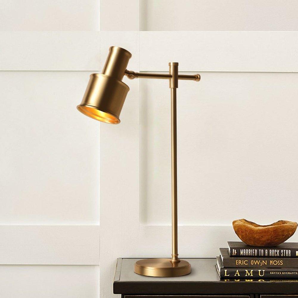 Europ/äische Einfache Tischlampe Kreative Messing Schreibtischlampe Einstellbare Lesen Tischlampe F/ür Tagungsraum Schlafzimmer Wohnzimmer B/üro Studie /Φ26cm H46cm E27