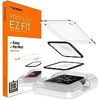Spigen ProFlex EZ Fit Skärmskydd kompatibel med Apple Watch 6/5/ 4/ SE 44mm, met sjabloon voor installatie, Full…