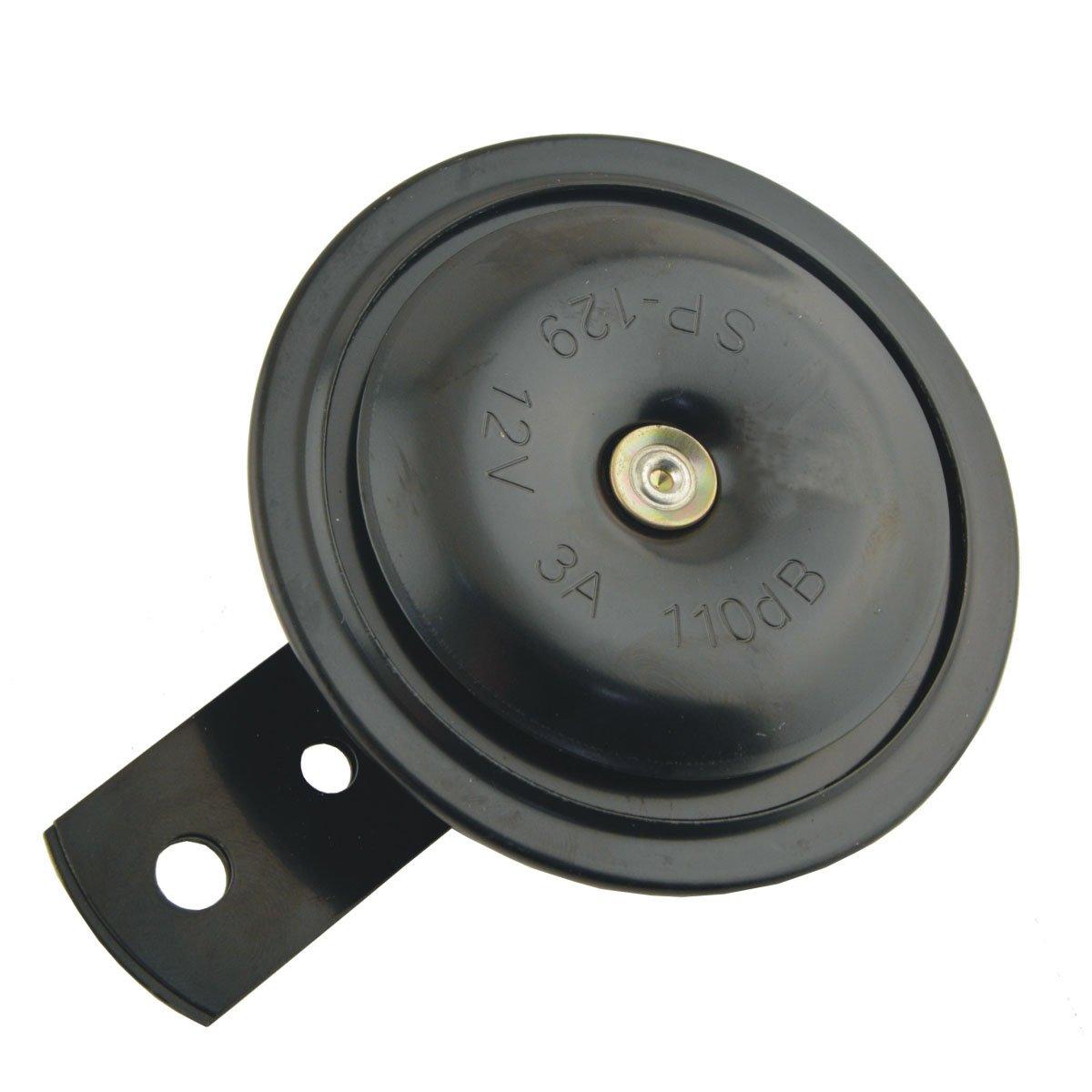 SaiDeng Motorbike Vehicle Car Metal DC 12V 3A 110dB Warn Loud Horn Trumpet CS1221-Black Universal Waterproof Round Loud Horn Speaker