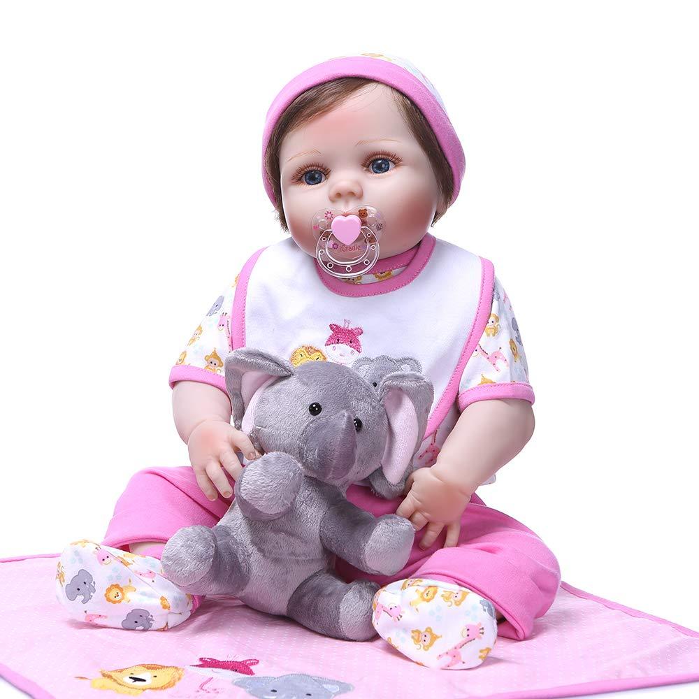 【爆買い!】 Pinky ハンドメイド フルボディ 23インチ 57cm フルボディ 生きているようなリボーンベビードール フルボディ ソフトシリコン人形 新生児 リアルなルック 新生児 リアルなタッチのかわいい人形 幼児の誕生日とクリスマスプレゼントに PK-22NPK06021820 フルボディ B07GGT1V11, Blue Mermaid:4e29ca19 --- pmod.ru