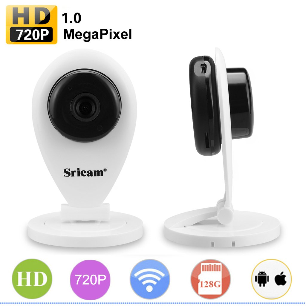 Sricam Caméra Fil 720p Onvif Sans Intérieure Wifi Portable Ip vm8n0wN