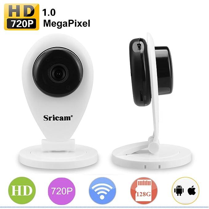 Sricam SP009 - Cámara IP de Vigilancia inalámbrica con infrarrojos (WiFi, 720P, Wifi 820.11b/g, H.264, P2P, Detección de movimiento, Visión nocturna), ...