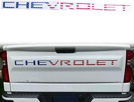 Amazon Com Tonet Cv 01fg Custom 3d Raised Abs Nameplate Chevy Letters Badge Tailgate Emblem Decal Insert Us American Flag For Chevrolet 2019 2020 Silverado 1500 2500 3500 Us Flag Automotive