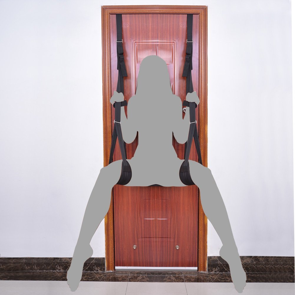 Yove Bondage Restraints Love Swing for Couples Indoor Swings Hanging Accessories Sex Swing in Black
