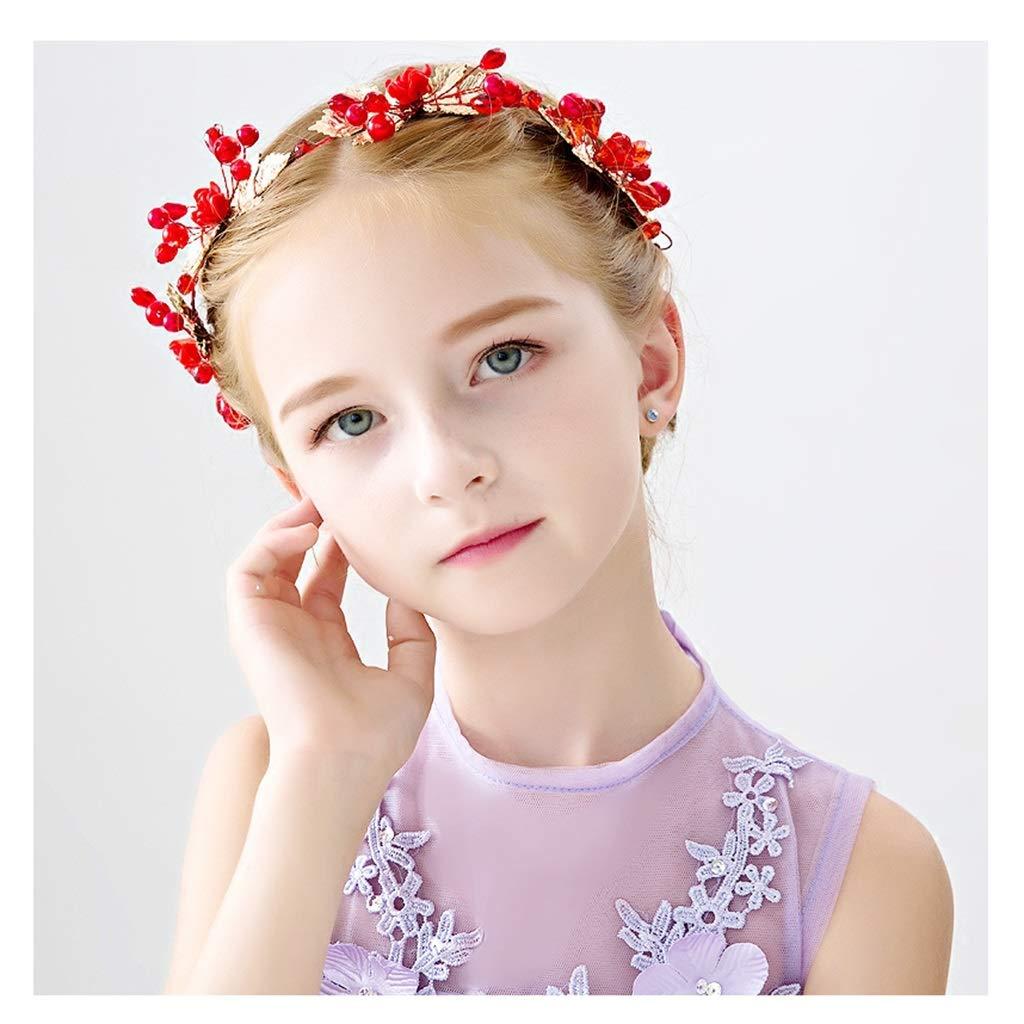 Wreath Flower Girl Crown Headdress Princess Rhinestones Crown Hair Accessories Children's Performance Accessories