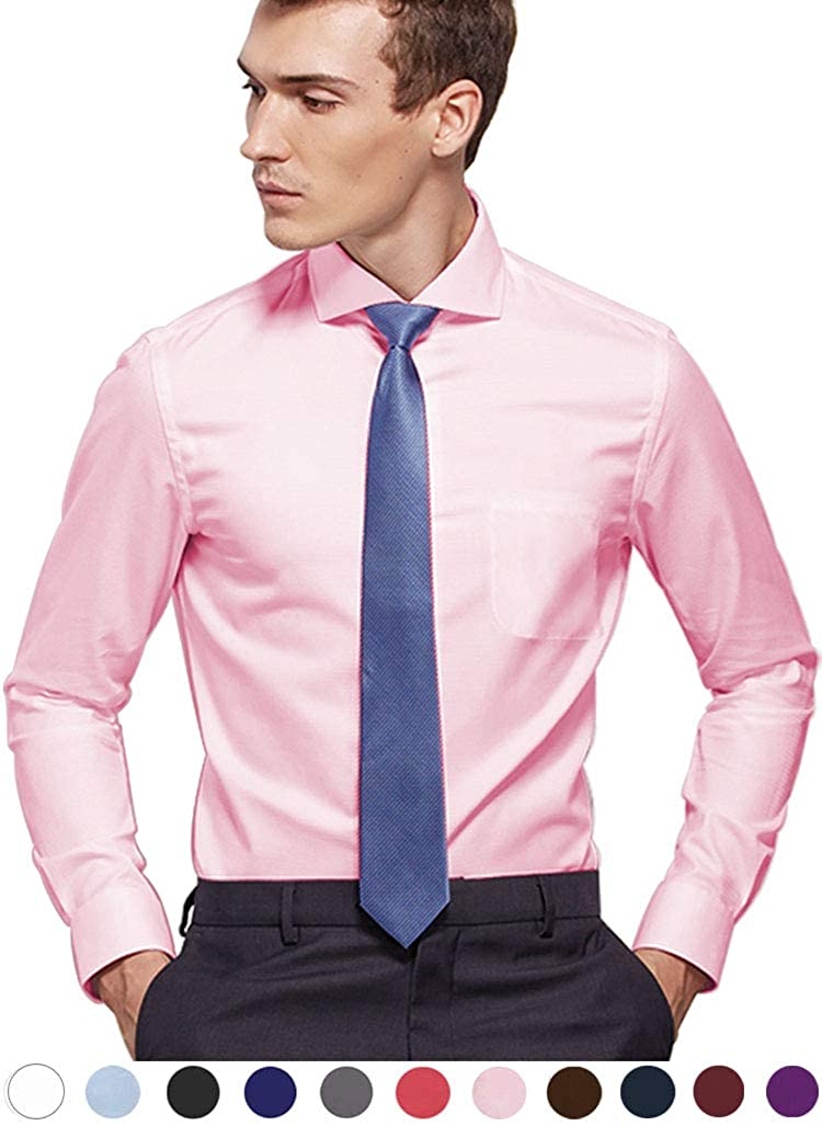78f9b0bf 【FASHION SLIM/ REGULAR FIT】The dress shirts are tailored according to USA  men's physique with tapered sleeves, higher armholes, well-designed slim  chest ...