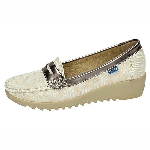 VALTINELLIS X-380 Mocasines Mujer Zapatos MOCASÍN Crema 40: Amazon.es: Zapatos y complementos