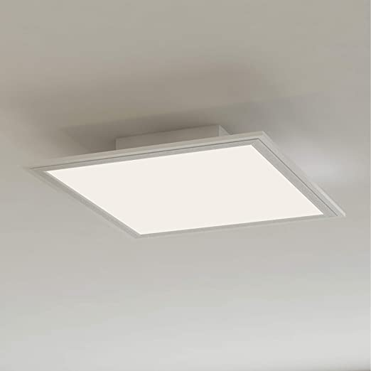 low cost 73208 bd11f Briloner Leuchten LED Ceiling lamp Panel, Metal, 12 W, White ...