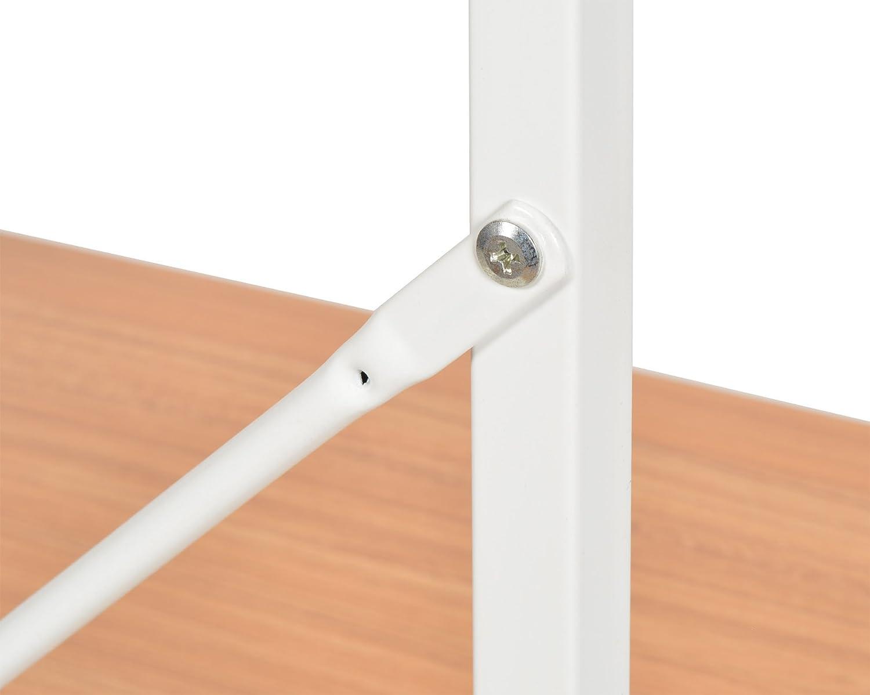 scaffali in metallo bianco apparenza di Faggio 84 x 58 cm MDF ts-ideen Mensoliera fibra di legno