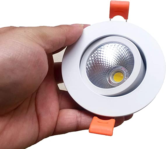 New 5W COB White LED Downlight Ceiling Lamp Pure White Recessed Light