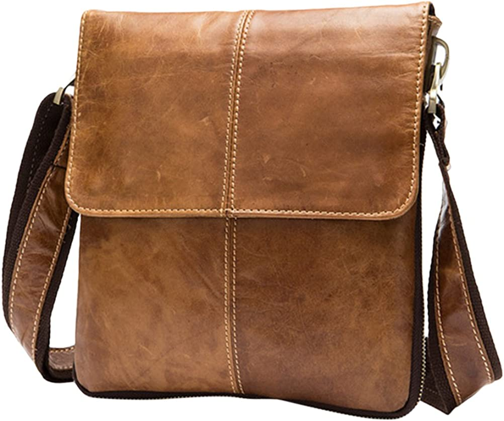 Zhuhaitf Casual Crossbody Bag for Mens PU Leather Big capacity Business Briefcase