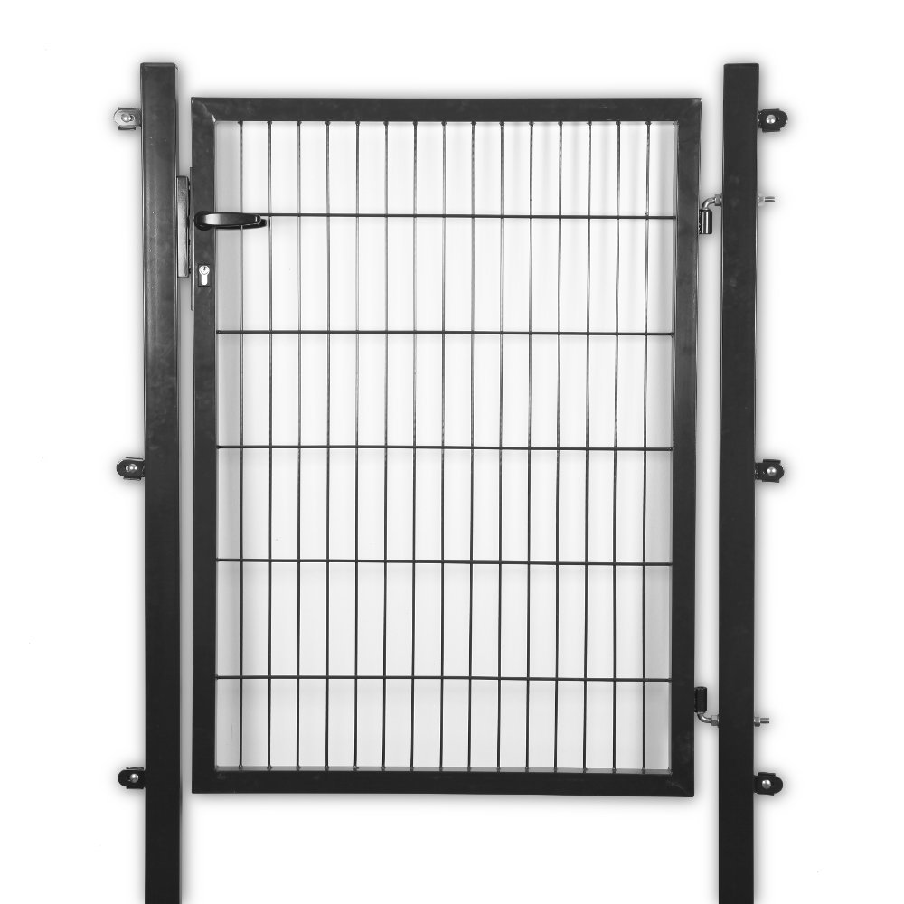 Gartentor 120x120 cm grün anthrazit Hoftor Zaun Tür für