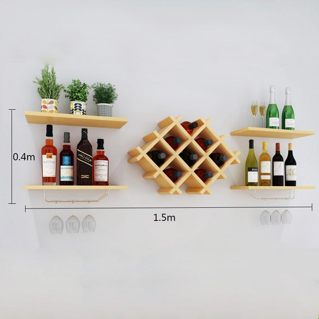 Wallpiping Wall Decorative Wine Rack Restaurant Shelf Deck Suspension Storage Tower ( Size : 15040 ) by LITINGMEI Shelf (Image #2)