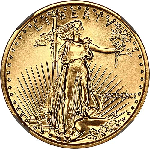 1991 P $10 Gold Eagles Gold Eagle Ten Dollar MS70 NGC