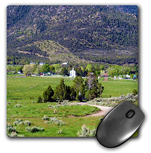 3dRose Jos Fauxtographee- Pine Valley - The View of Pine Valley Utah as You Drive in from Mountain - Mousepad (mp_317903_1)