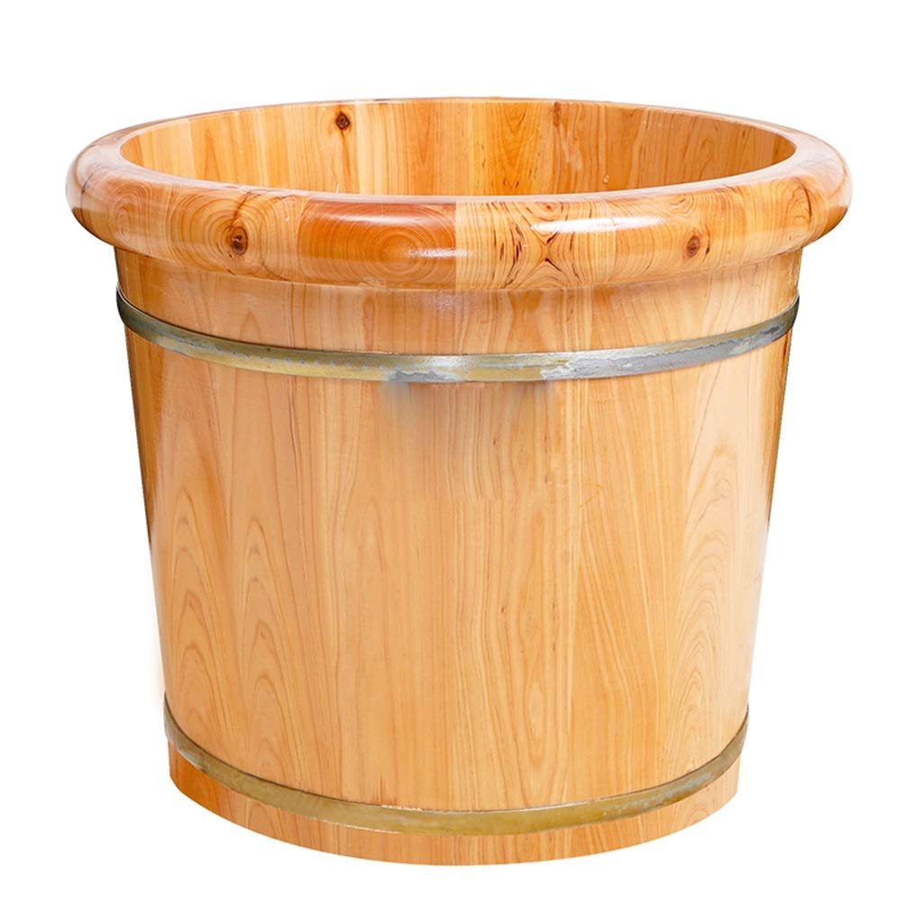 Foot Bath Tub, Cedar Wood Deep Foot Bath Wooden Barrel,Environmentally Friendly and Comfortable 30cm High Fumigating Barrel (Size : B) by None