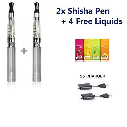 CE4 2 x E-Shisha batería cigarrillo electrónico cigarrillos Pen Starter Kit Vaping vapor Shisha