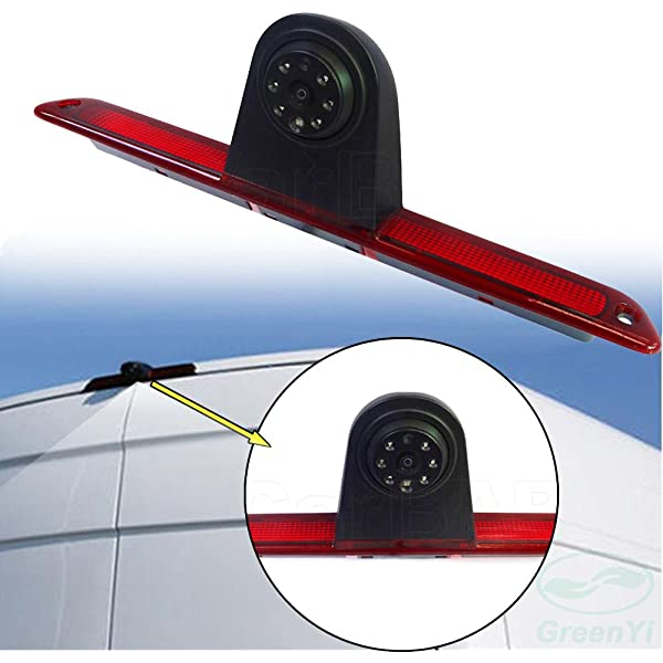 Reversing Camera+7 inch monitor Car Third Roof Top Mount Brake Lamp Rear View Backup Camera for Mercedes Benz Sprinter W906//VW Crafter T5 Multivan Caravelle //T6
